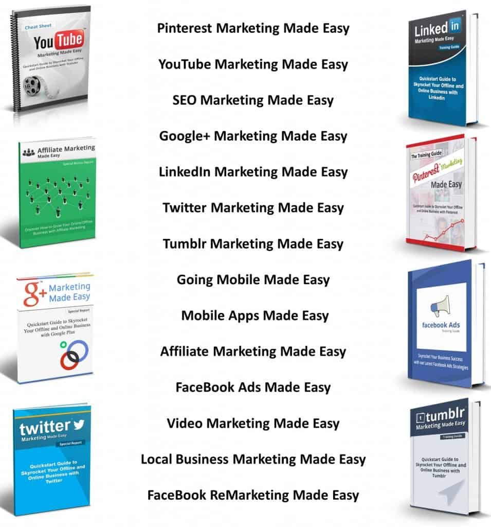 Social Media Marketing Made Easy: FaceBook, LinkedIn, Pinterest, Twitter, YouTube...